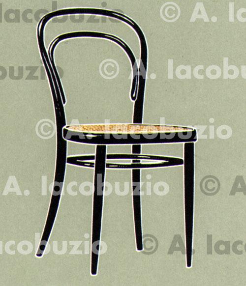 0037 sedia thonet iacobuzio drawings for Sedia thonet originale